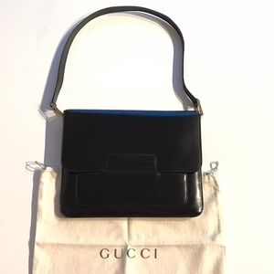 Gucci Vintage Smooth Leather Flap Shoulder Purse